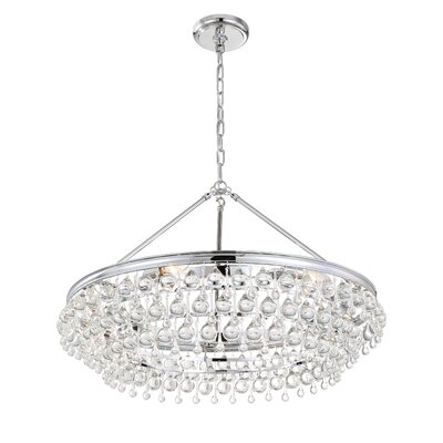 Robertville 6-Light Crystal Chandelier Finish: Chrome