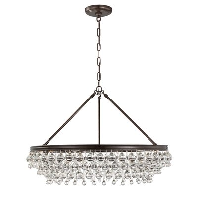 Robertville 6 Light Crystal Chandelier Finish: Vibrant Bronze HOHN4910 28098513