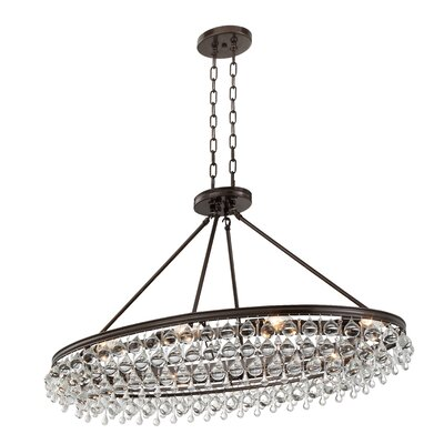 Robertville 8 Light Crystal Chandelier Finish: Vibrant Bronze HOHN4911 28098515