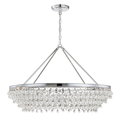 Devanna 8-Light Bowl Crystal Chandelier Finish: Chrome