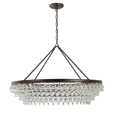 Robertville 8 Light Crystal Chandelier Finish: Vibrant Bronze HOHN4913 28098519