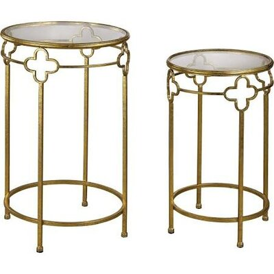 Haringe Quatrefoil 2 Piece End Table Set