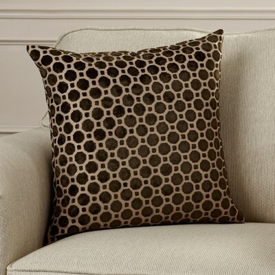 Alton Geometric Velvet Throw Pillow Color: Brown, Size: 18 H x 18 W