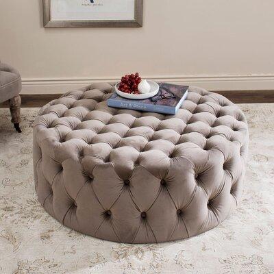 Belmont Cocktail Ottoman Upholstery: Mushroom