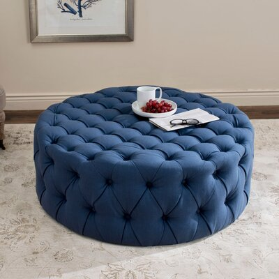 Belmont Cocktail Ottoman Upholstery: Navy
