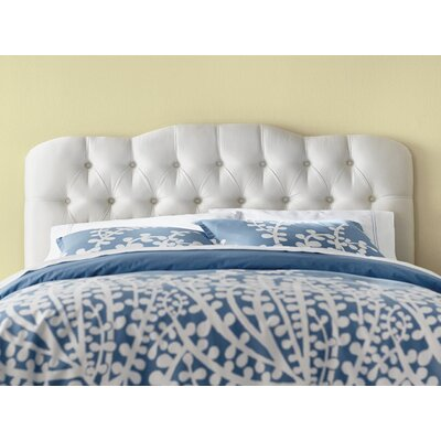 Davina Tufted Shantung Arch Upholstered Headboard Size: California King, Color: Shantung Pearl