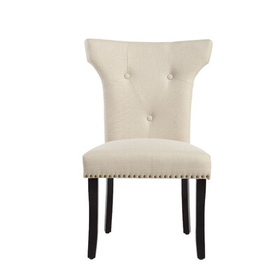 Roseta Side Chair Upholstery: Ricepaper