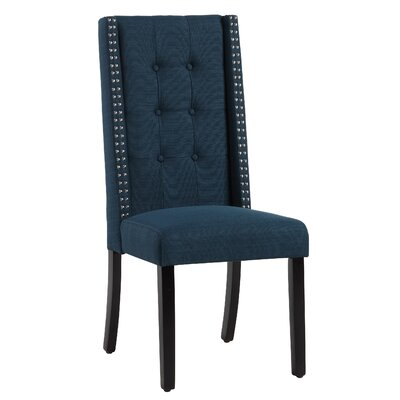 Zelma Side Chair Upholstery: Azure