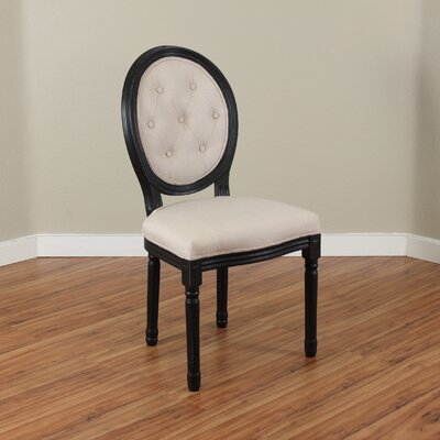 Warm Springs Parsons Chair Upholstery: Ivory
