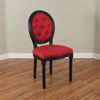 Warm Springs Side Chair Upholstery: Deep Red