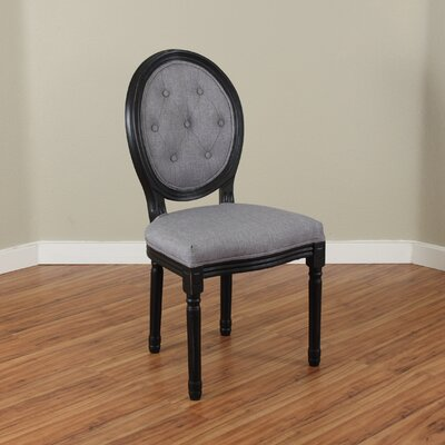 Warm Springs Side Chair Upholstery: Grey