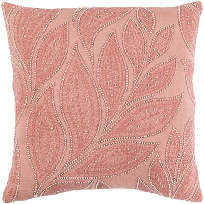 Tessie Linen Throw Pillow Color: Peach/Rose/Cream, Size: 20 H x 20 W x 4 D, Fill Material: Down