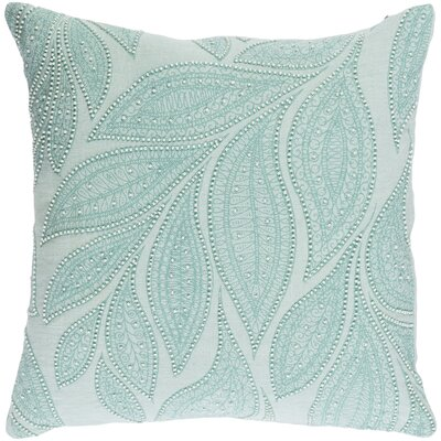 Tessie Linen Throw Pillow Color: Mint/Cream, Size: 20 H x 20 W x 4 D, Fill Material: Down