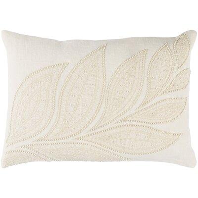 Tessie Linen Lumbar Pillow Color: Cream/Butter
