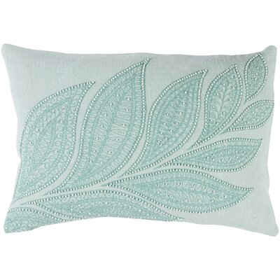 Tessie Lumbar Linen Pillow Cover Color: Green