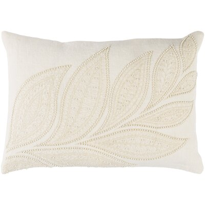 Tessie Linen Lumbar Pillow Color: Cream/Butter