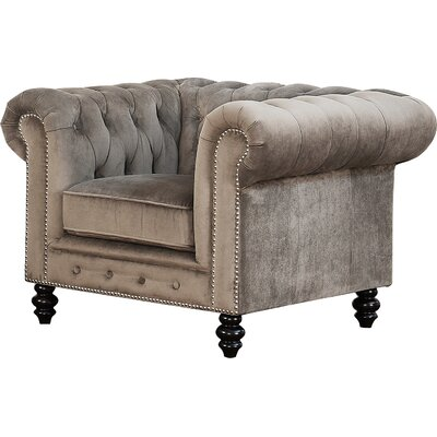 Tunbridge Wells Club Chair Upholstery: Grey