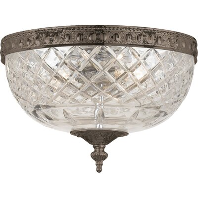 Aureolin 2-Light Flush Mount Finish: English Bronze