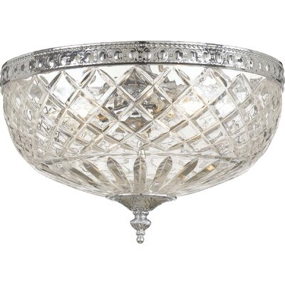 Aureolin 2-Light Flush Mount Finish: Polished Chrome