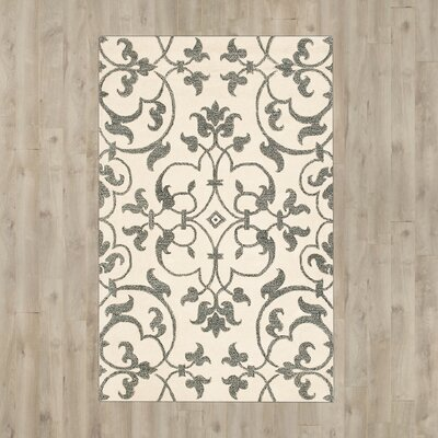 Rhona Hand-Tufted Ivory/Grey Contemporary Area Rug Rug Size: 9 x 12