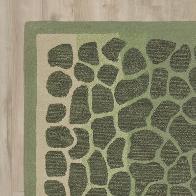 Arusha Hand-Tufted Grassland Green Area Rug Rug Size: Rectangle 26 x 43