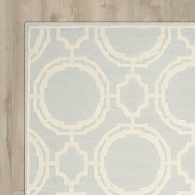 Ordingen Hand-Tufted Grey/Ivory Area Rug Rug Size: 4 x 6