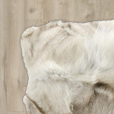 Bretta Hand-Woven Skin Silver Area Rug