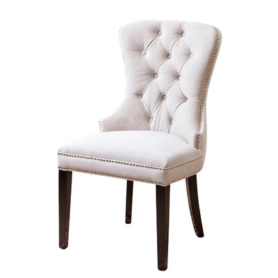Barnt Green Parsons Chair Upholstery: Ivory