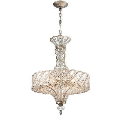Ware 6-Light Crystal Chandelier Bulb Type: 4.8W LED