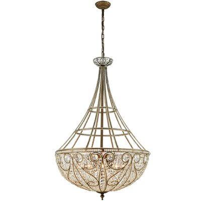 Goethe 10-Light Crystal Chandelier Bulb Type: 60W Incandescent
