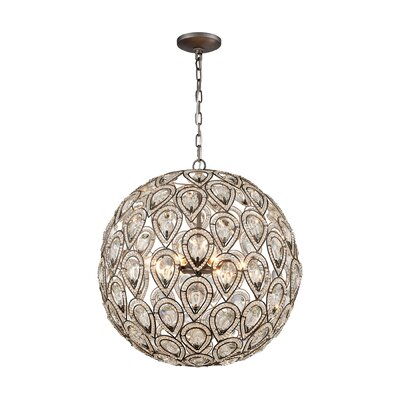 Norwich 8-Light Globe Pendant Finish: Matte Gold, Bulb Type: 4.8W LED