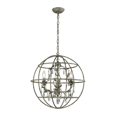 Yate 3-Light Globe Pendant Finish: Marbled Gray