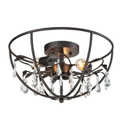 Yate 3-Light Semi Flush Mount Finish: Oil Rubbed Bronze