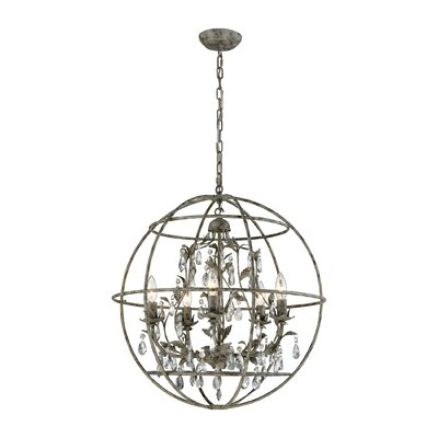 Yate 5-Light Globe Pendant Finish: Marble Gray