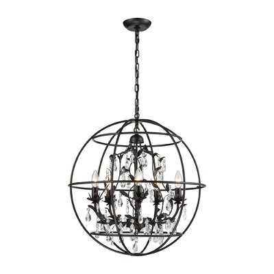 Yate 5-Light Globe Pendant Finish: Oil Rubbed Bronze