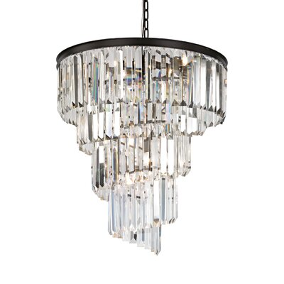 Springfield 9-Light Crystal Chandelier Bulb Type: 60W Incandescent