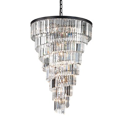Springfield 15-Light Crystal Chandelier Bulb Type: 60W Incandescent