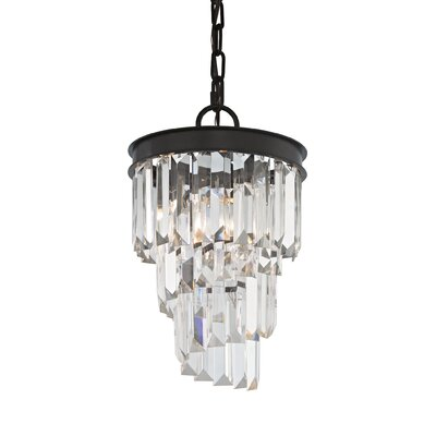Springfield 1-Light Crystal Pendant Bulb Type: 60W Incandescent