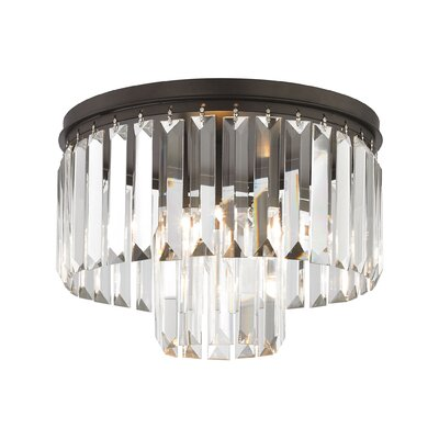 Hinkle 1-Light Flush Mount Finish: Polished Chrome, Bulb Type: 60W Incandescent
