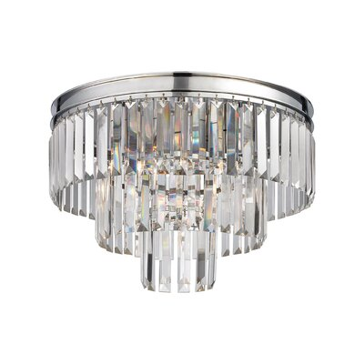Springfield 3-Light Semi Flush Mount Finish: Polished Chrome