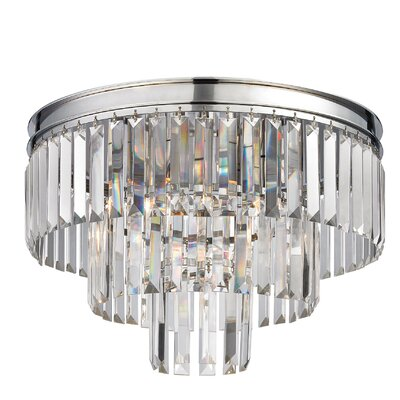Springfield 3-Light Metal Semi Flush Mount Finish: Polished Chrome