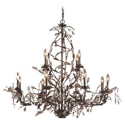 12-Light Crystal Chandelier