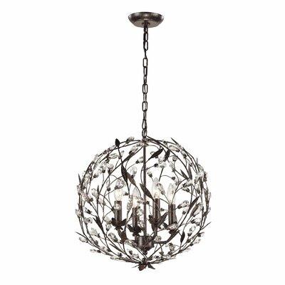 Whittingham 4-Light Globe Pendant Finish: Rust