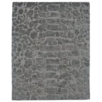 Ayles Hand-Tufted Pewter Area Rug Rug Size: Rectangle 8 x 11