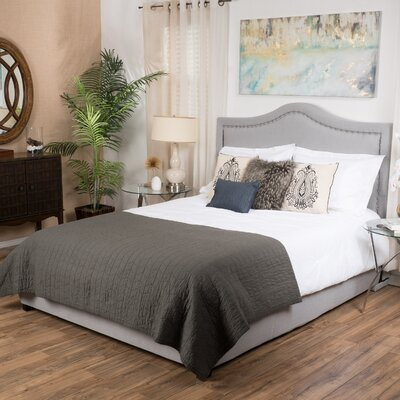 Cramlington Queen Upholstered Panel Bed Color: Light Grey