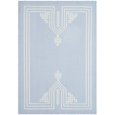 Hand-Woven Sky Blue Area Rug Rug Size: Rectangle 5' x 7'