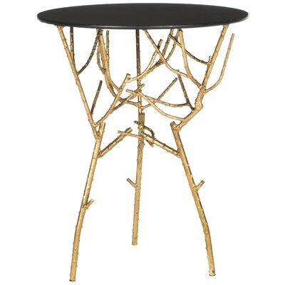 Martin End Table Color: Gold / Black