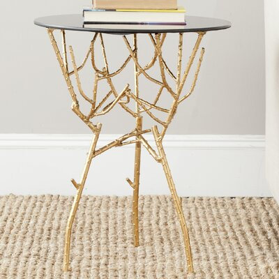 Martin End Table Color: Gold / Black