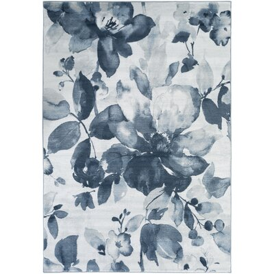 Griselde Navy/Ivory Area Rug Rug Size: Rectangle 52 x 76