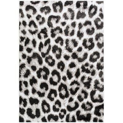Nanette Black & Ivory Area Rug Rug Size: 52 x 76